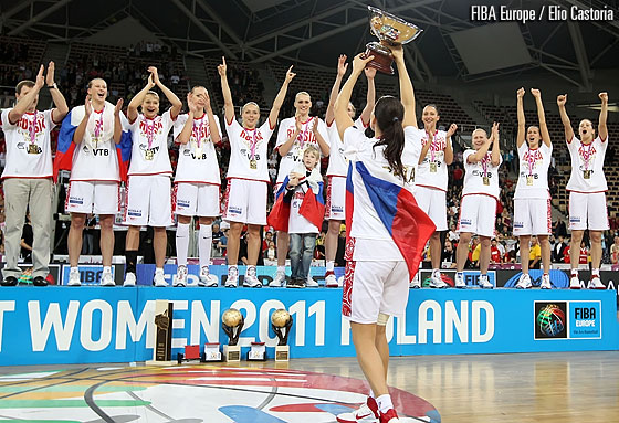 Russia win Gold at EuroBasket Women 2011