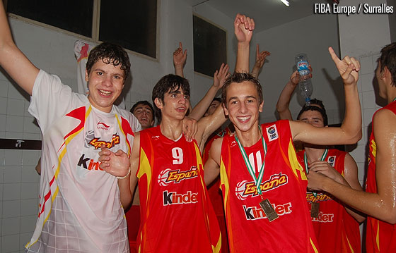 Spain are crowned champions at the U16 European Championship in 2006