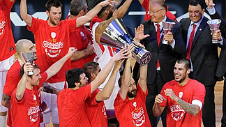 Olympiacos Euroleague 2012 champions