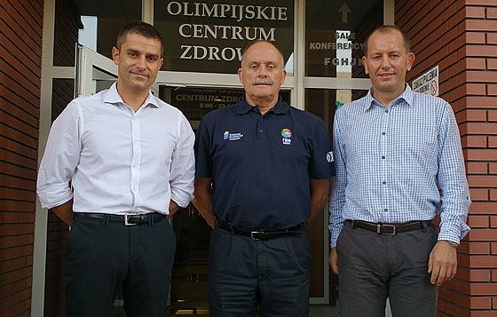 Marcin Kowalski (organiser), Alan Richardson (FIBA Europe Referee Department), Grzorsz Ziembliki (FIBA Europe National Instructor)
