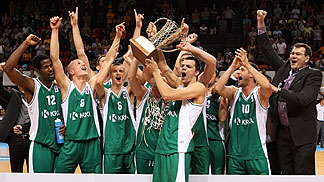 KRKA celebrate their EuroChallenge Win