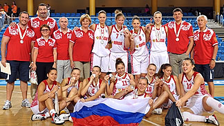 Russia clinch the silver medal at the U20 European Championship Women 2012