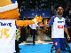 EuroBasket 2015 mascot Frenkie with French star Tony Parker
