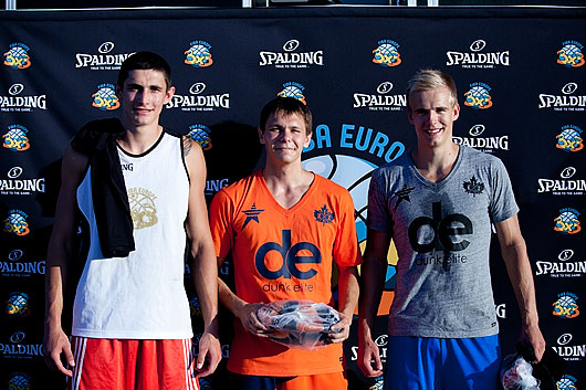Left to right: Jere Vucica, Smoove, Kristaps Dargais