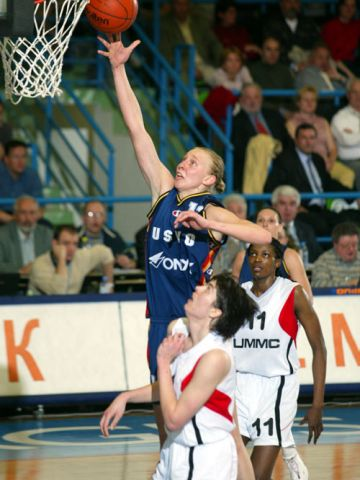 USVO center Ann Wauters at the 2003 EuroLeague Women Final Four
