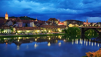 Maribor at night