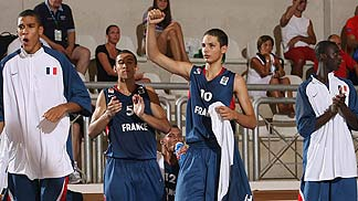 France celebrate a big basket