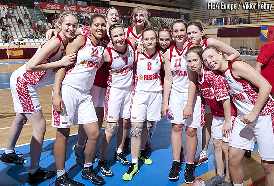 Russia after winning the Bronze Medal Game against Belgium