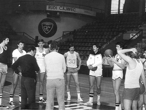 ?? practice before the 1978 Korac Cup Final