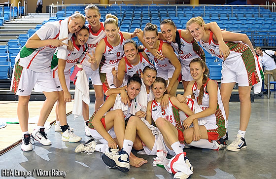 Belarus after their victory over Poland
