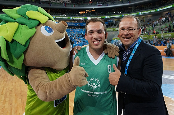 Lipko was of course on site to cheer for the Special Olympics teams just like for all other EuroBasket squads
