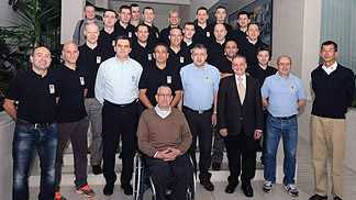 Participants of the wheelchair basketball referee refresher clinic in Vodice, Croatia (4-7 April 2013)