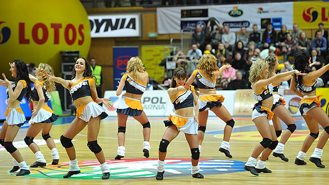 The Zalgiris Dancers at the All Star Game