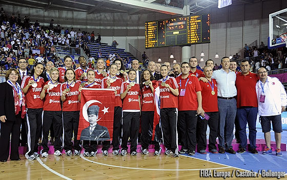 Proud bronze medallists: Turkey