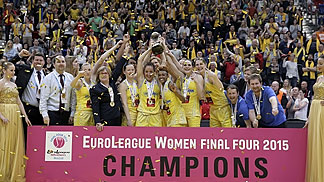 2015 EUroLeague Women Champions: ZVVZ USK Prague