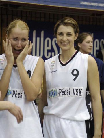 Albena Branzova (right) and Annamária Keller (Pecs)