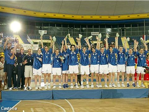 Serbia & Montenegro's U16 Girls team: winner of the Silver Medal at the European Championship 2004