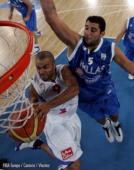 9. Tony Parker (France), 5. Ioannis Bourousis (Greece)