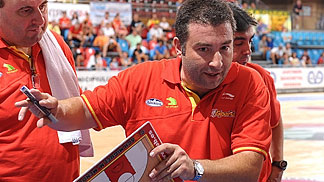 Spain head coach Miguel Martinez Mendez