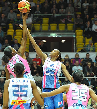 Sancho Lyttle (Europe), Sylvia Fowles (Rest of the World)