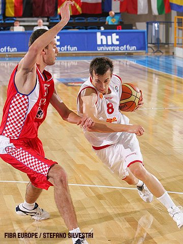 Nikola Karakolev (F.Y.R. of Macedonia) and Josip Blajic (Croatia)