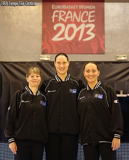 Ilona Kucerova, Jasmina Juras and Fabiana Nitu wrote history on Day 2, being the first all-female referee team to officiate a EuroBasket Women game