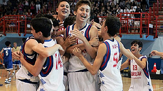 Gilbraltar celebrate as they win the U16 European Championship Division C in undefeated manner
