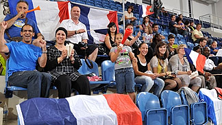 French fans at Poprad arena