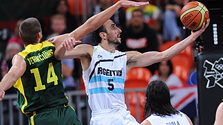 Manu Ginobili (Argentina); Argentina v Lithuania, Olympic Games 2012, London
