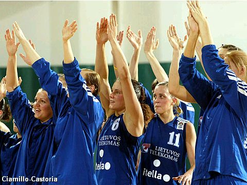 Lietuvos finished 3rd at the EuroLeague Women Final Four 2005 after beating MiZo-Pecsi 68-60