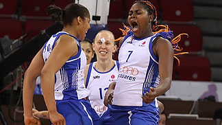 7. Isabelle Yacoubou (Ros Casares), 23. Maya Moore (Ros Casares)