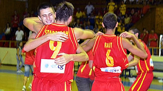 Montenegro celebrate after winning the final against Israel