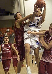 Greece's Konstantinos Vasileiadis scored 25 points in the Quarter-Final against Latvia