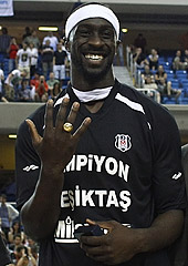 Pops Mensah-Bonsu of Besiktas Milangaz - EuroChallenge Final Four 2012 MVP