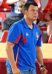 Serbia head coach Milos Pavlovic