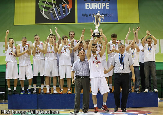 Poland, champions of the U20 European Championship Men Division B