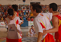 Spanish Team And Spectators Celebrating