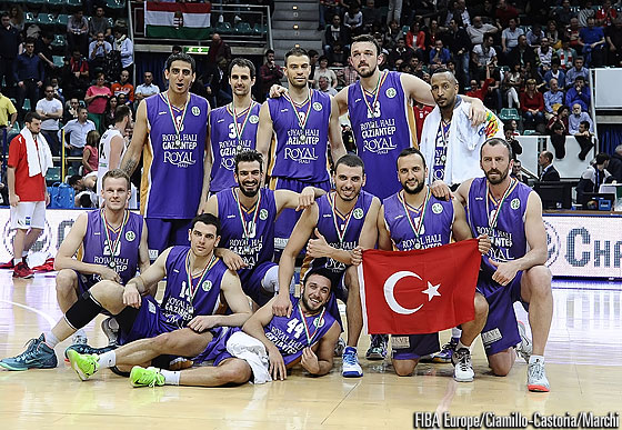 Royal Hali Gaziantep finish third at the 2014 EuroChallenge Final Four