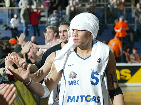 Misan Nikagbatse (MBC) after the 92-53 win over KK Hiron