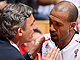 Svetislav Pesic (Head Coach) and Ariel Mc Donald (Akasvayu Girona)