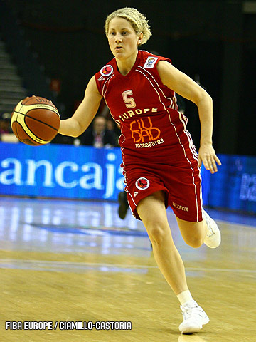 Caroline Aubert (USO Mondeville Basket) at EuroLeague Women All Star Game