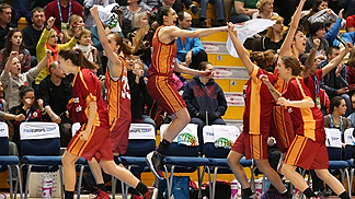 The Galatasaray bench celebrate