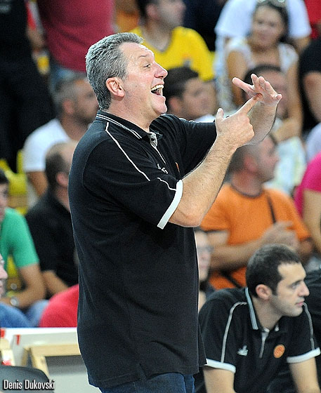 F.Y.R. of Macedonia Head Coach Marin Dokuzovski
