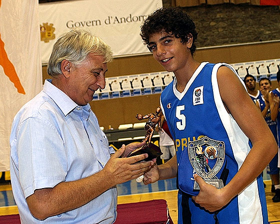 Tournament MVP Antreas Christodoulou