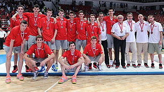 Bronze medallists Croatia