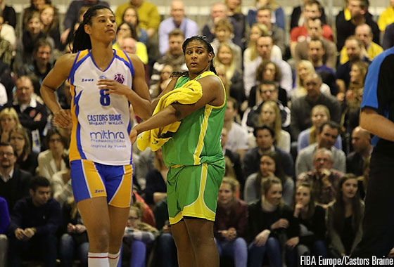 8. Celeste Trahan (Castors Braine), 13. Courtney Paris (IÜBGD)