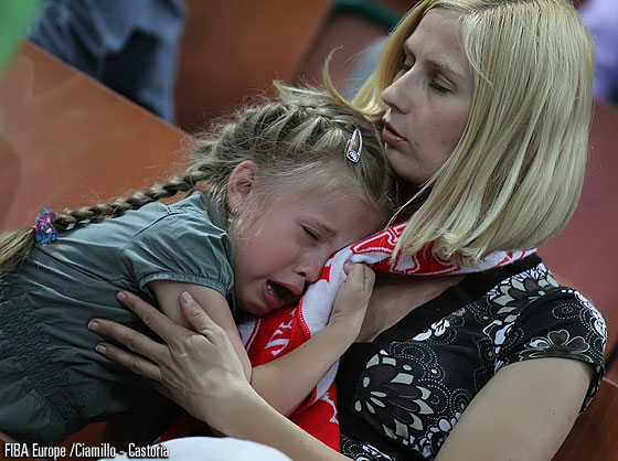 Was her team's performance the reason for her to cry?