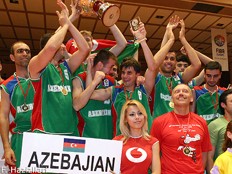 Celebration of the Winning Team Azerbaijan