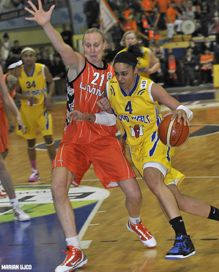 4. Candice Dupree (Good Angels Kosice), 21. Ann Wauters (UMMC Ekaterinburg)