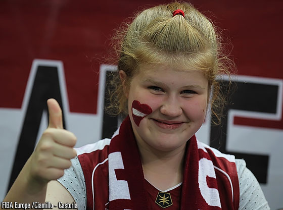 Latvia's fans really gave their team some extra energy